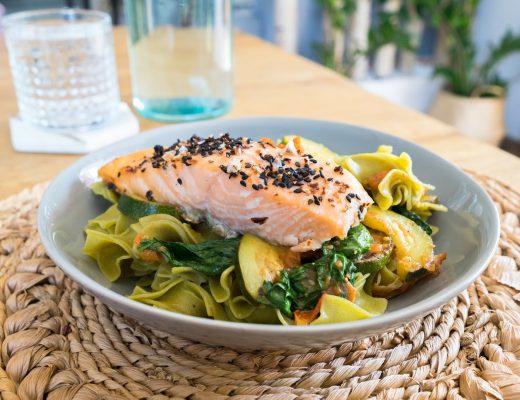 Seitz-glutenfrei-Spinat-Nudeln-Rezept-gesund-Fitness-diesemary-stuttgart-münchen-Düsseldorf-Lachs-Healthy-
