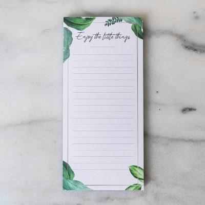 Notizblock-Jungle-Monstera-Einkaufsliste-Shoppen-DieseMary-Design-Notizen-Grafik-Shop-Baby-Enjoy-the-little-things-Schwangerschaft-Pregnancy-geschenk